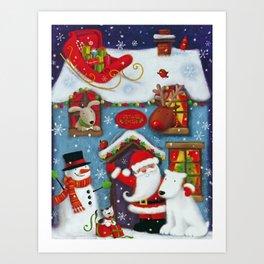Santa's House Art Print