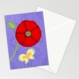 P is for Poppy Stationery Cards