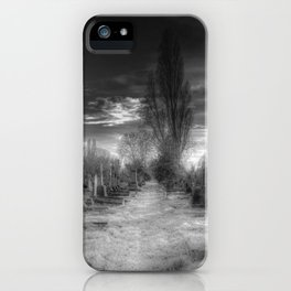 Ghostly Kensal Green Cemetery London iPhone Case