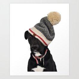 Rudy in Winter Hat Art Print
