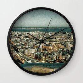 Lisbon sky view Wall Clock