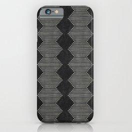 mudcloth diamonds - onyx iPhone Case