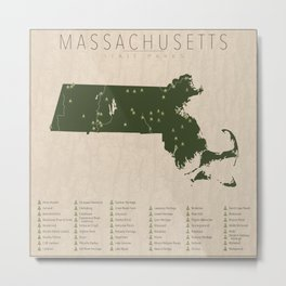 Massachusetts Parks Metal Print