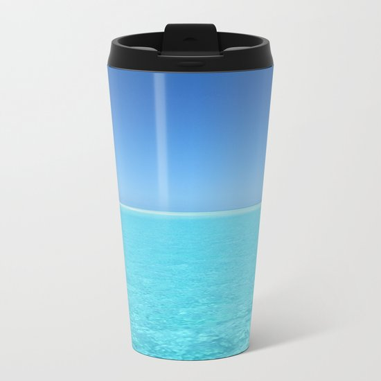 Tropical Escape Metal Travel Mug