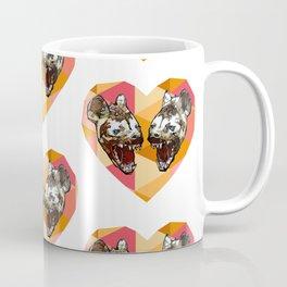 Jess N' Brooke Graphic Hyena Fractal Heart Coffee Mug