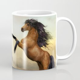 The Dueling Stallions Coffee Mug