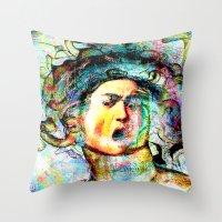 mythology Throw Pillows featuring Mythology by Joe Ganech