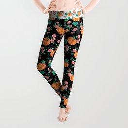 Pumpkins and Roses Leggings