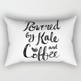 Powered by Kale and Coffee Rectangular Pillow