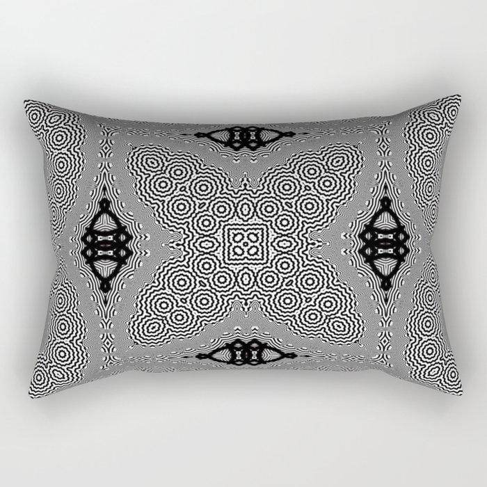Organic Optical Pattern No.1 Rectangular Pillow