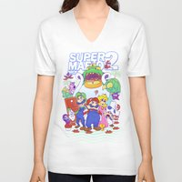 mario bros V-neck T-shirts featuring Mario Bros. 2 nostalgia  by Damon Fernandez