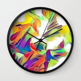 Paste And Pastels Wall Clock