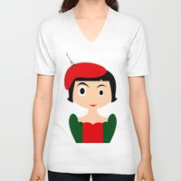amelie V-neck T-shirts featuring Amelie by Creo tu mundo