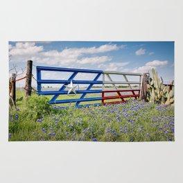 Lone Star Gate With Bluebonnets - Ennis, TX Rug