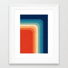 Retro 70s Color Palette III Framed Art Print