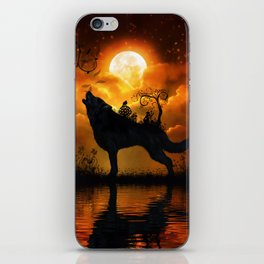 Awesome wolf and fairy iPhone Skin