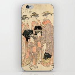 The Courtesans Maizumi Of The Daimonjiya Brothel iPhone Skin