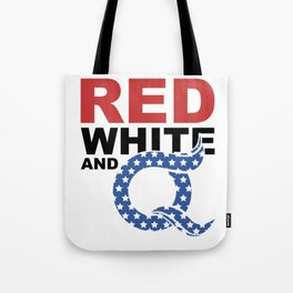 QAnon Art Storm The Great Awakening WWG1WGA Light Tote Bag