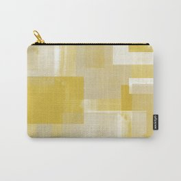 Modern Abstract No. 19 | Citron Carry-All Pouch