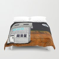 moonrise kingdom Duvet Covers featuring Moonrise Kingdom by Veronique de Jong · illustration