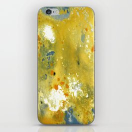 Abstract Acrylic Painting YELLOW iPhone Skin