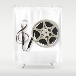 Famous Reel and Clef Image by Leslie Harlow Shower Curtain