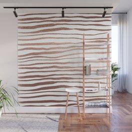 Irregular lines - copper Wall Mural