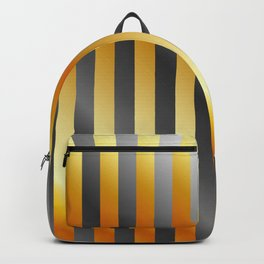 Illustration of a meta steel and gold Backpack