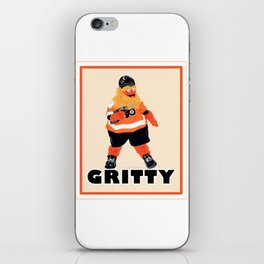 Gritty the new mascot of the Flyers in Philadelphia iPhone Skin