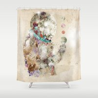 spaceman Shower Curtains featuring spaceman by bri.buckley