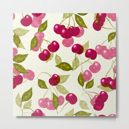 Sweet cherry  #Sweet  #cherry #Sweetcherry Metal Print