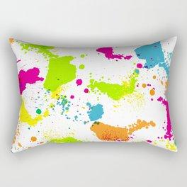 colorful paint blots Rectangular Pillow