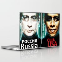 russia Laptop & iPad Skins featuring Russia  USA by Pavlo Tereshin