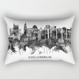 Columbus Ohio skyline BW Rectangular Pillow
