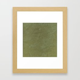 Italian Style Tuscan Olive Green Stucco - Luxury - Neutral Colors - Home Decor - Corbin Henry Framed Art Print