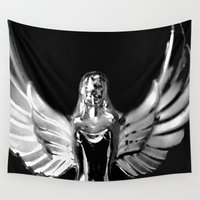 angel wings Wall Tapestries featuring Angel Wings by Shaunia McKenzie