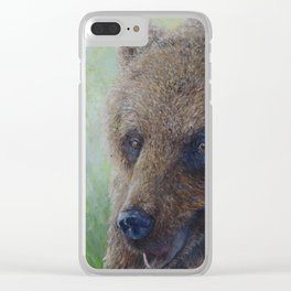 Brown Bear (Ursus arctos arctos) Clear iPhone Case