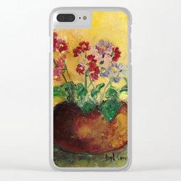 Vasinho de flores (Flower pot) Clear iPhone Case