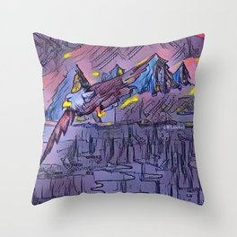 """Lake Flight"" Throw Pillow"