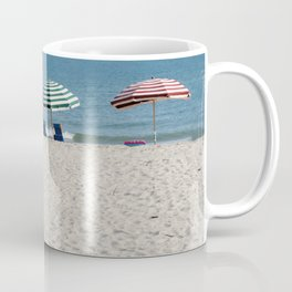 Bald Head Island Beach Umbrellas | Bald Head Island, North Carolina Coffee Mug
