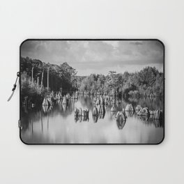Dead Lakes Florida Black and White Laptop Sleeve