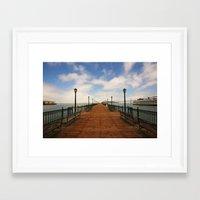 boardwalk empire Framed Art Prints featuring boardwalk by Wil Zoetekouw