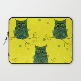 Owl On A Branch Laptop Sleeve