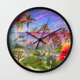 HAWAIIAN ESCAPE Wall Clock