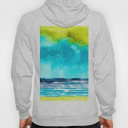 Abstract Watercolor Seascape I Hoody