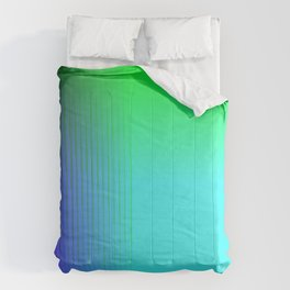 Cyan Green Purple Red Blue Black ombre rows and column texture Comforters