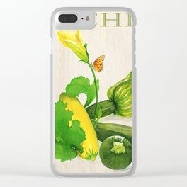 Zucchini and its Blossom Clear iPhone Case