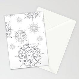 Grey & White Mandala Stationery Cards