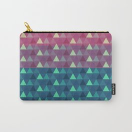 Abstract pink blue geometrical triangles pattern Carry-All Pouch
