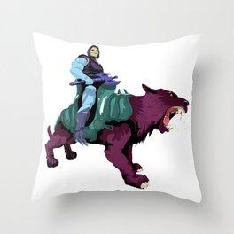 Skeletor x MrWetpaint Throw Pillow